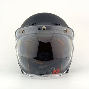 Vintage motorcycle windshield harley helmet bubble shield pilot helmet visor jet scooter helmets + bubble visor