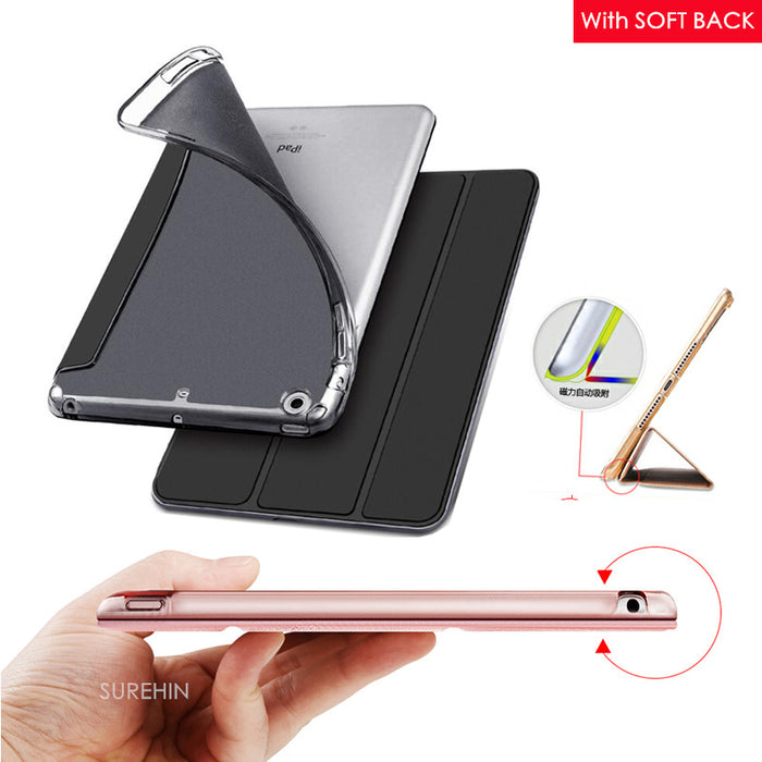 Nice cover for apple new 2017 ipad air 1 case slim thin flip soft tpu silicone protect magnetic smart pu leather case cover