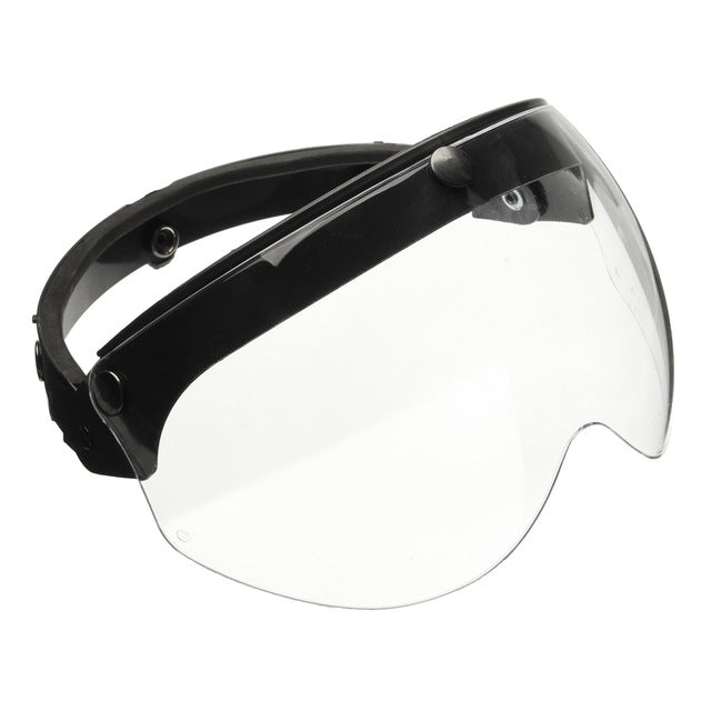 Mofaner Universal Front Flip Up Visor Wind Shield Lens For Open Face Motorcycle Helmets - Trivoshop
