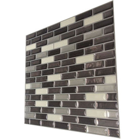 Mosaic wall tile peel and stick vinyl wall tile self-adhesive wall kitchen tile for home wall decoration
