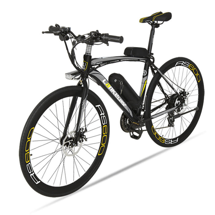 Lankeleisi RS600 Road Electric Bike 240W 36V 20HA Lithium Battery 21 Speed 700Cx28C 50CM Carbon Steel Frame with Smart Display