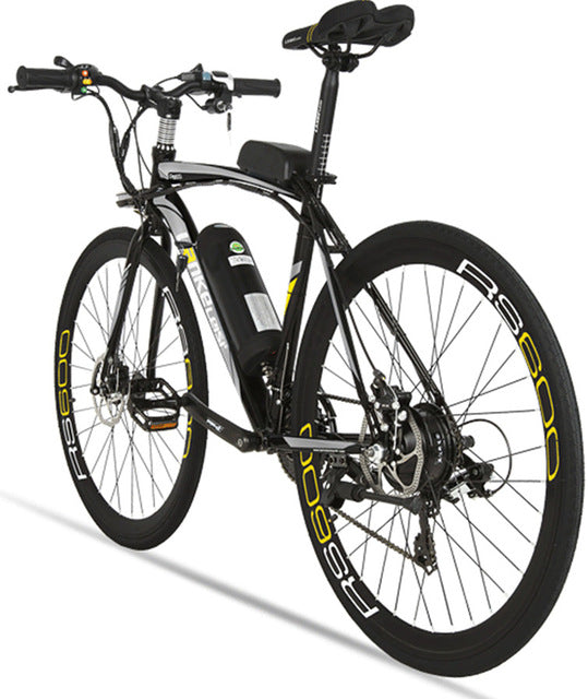 Lankeleisi RS600 Road Electric Bike 240W 36V 20HA Lithium Battery 21 Speed 700Cx28C 50CM Carbon Steel Frame with Smart Display - Trivoshop
