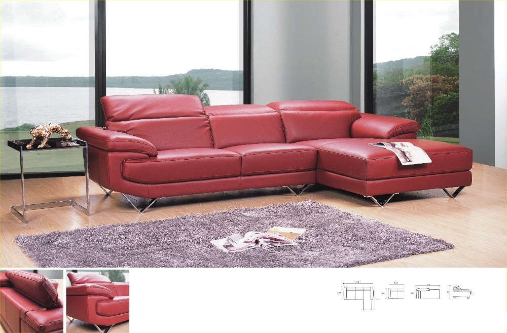 Modern style sectional sofa top real Genuine leather sofa living room sofa couch L shape corner sofa sectional furniture 8207 - Trivoshop