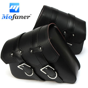 1 Pair Black Motorcycle Saddlebags Throw Under Seat Side Tools Bag Pouch for Harley-Davidson Touring Cruiser Motorbike - Trivoshop.com