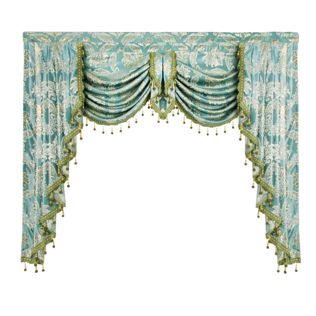 1 Piece Valance European Royal Luxury Valance Curtains for Living Room Window Curtains for Bedroom Valance Curtains for Kitchen - Trivoshop.com
