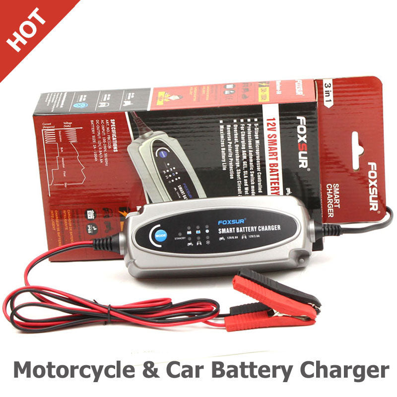 Motorcycle & Car Battery Charger - Trivoshop