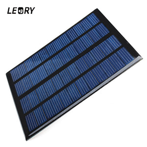 LEORY 3W 12V 250MA Solar Panel Polysilicon DIY Solar Cells Module System Car Automobile Boat Rechargeable Power Battery Charger