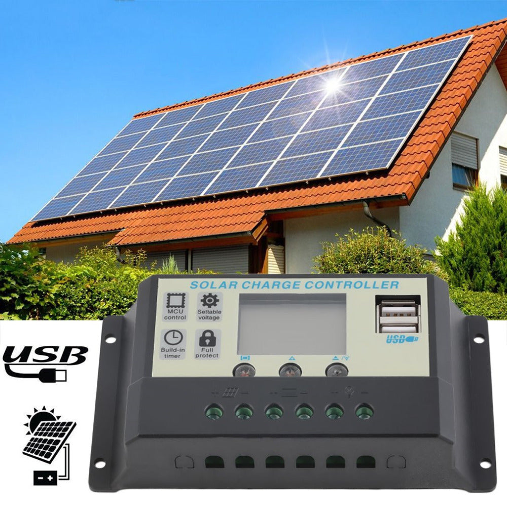 10A 12V 24V Solar Panels Battery Charge Controller 10Amps Lamp Regulator Suitable for Small Solar Energy System Battery Hot Sale - Trivoshop.com