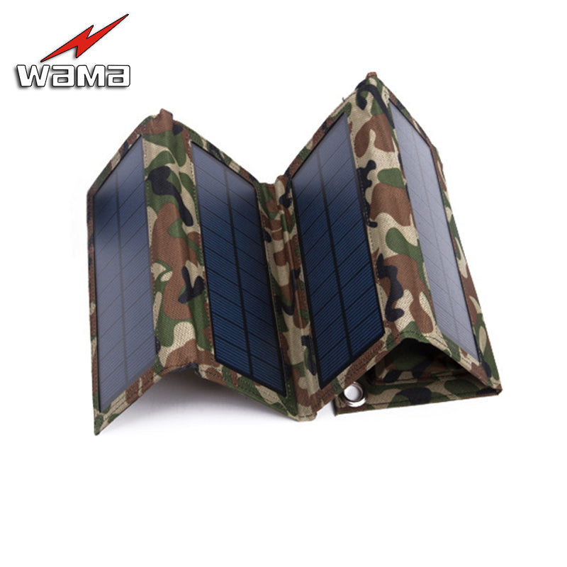 Folding Camouflage Charger 8W Solar Panel