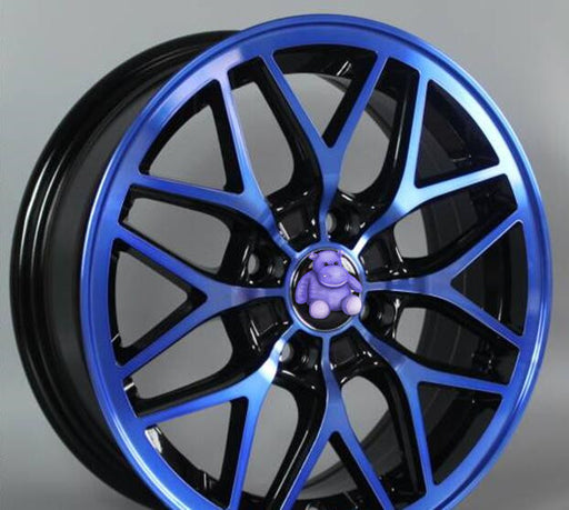Yellow Blue Red 14x6.0 4x100   Car Aluminum Alloy Wheel Rims