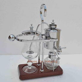 Silver Belgium royal brewer Siphon coffee maker high quality Balancing coffee machine with stainless steel classic design - Trivoshop