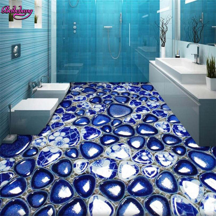 pebble bathroom tiles 3D Wallpaper