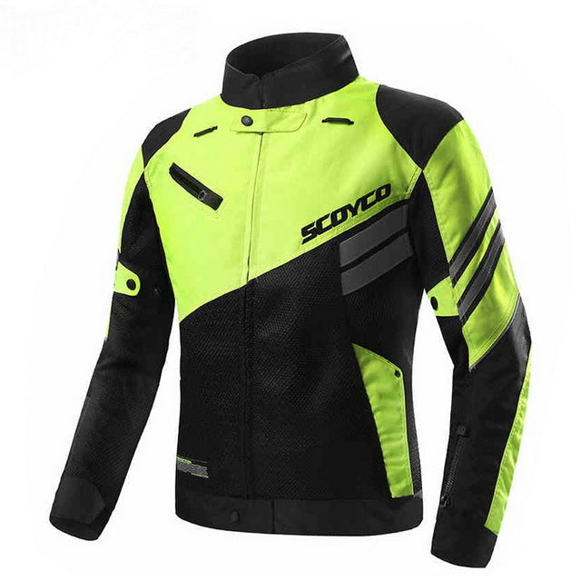 summer spring autumn ventilate SCOYCO JK36 Double mesh cloth motorcycle jacket with Protective Gears - Trivoshop