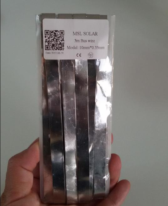 Solar panel diy solder strip. solar cell welding strip 10mm*0.33mm bus wire 3m/Lot.solder ribbon CE certificate Free shipping.