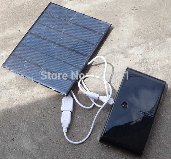 HOT !3.5W Solar Charger For Mobile Phone/Mobile Power Bank Charger Polycrystalline Solar Panel Charger USB Oupt  Fast Shipping