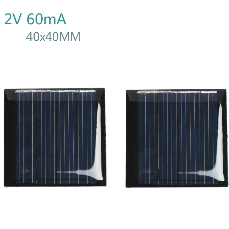 10Pcs Solar Panels Polycrystalline Silicon Flexible Solar Panel Power Charger 2V 60mA 40x40MM DIY Portable Technology Production - Trivoshop.com