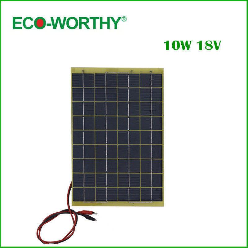 10 W Epoxy-resin Solar Panel 10w Poly Solar Panel 12v with Diode for Charge 12v Battery - Trivoshop.com