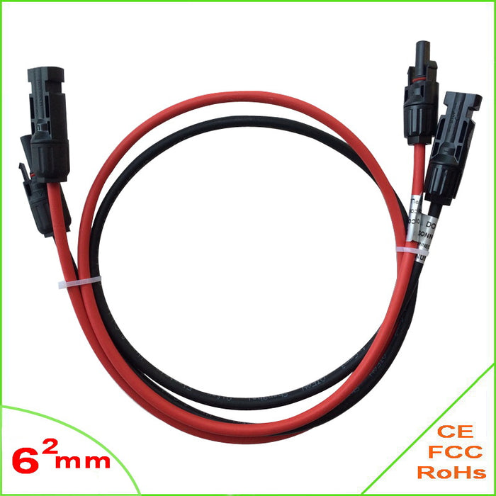 Solar Panel Cable PV Type Wire  MC4 Extension  6mm2 Cable with Male and Female Solar Connector for Solar Power System