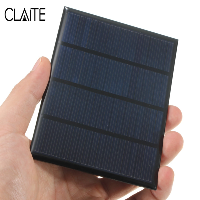 12V 1.5W Mini Polycrystalline Solar Panel Epoxy Solar Cells Silicon DIY Battery Power Bank Charger Solar Module System 115x85mm - Trivoshop.com