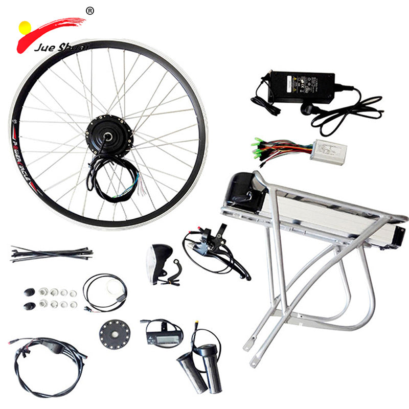 New Arrive 36V 10AH/12AH 20. 26. 700C 28. Ebike Sets With Rear Rack Battery Electric Bicycle Conversion Kit Price Competitive - Trivoshop