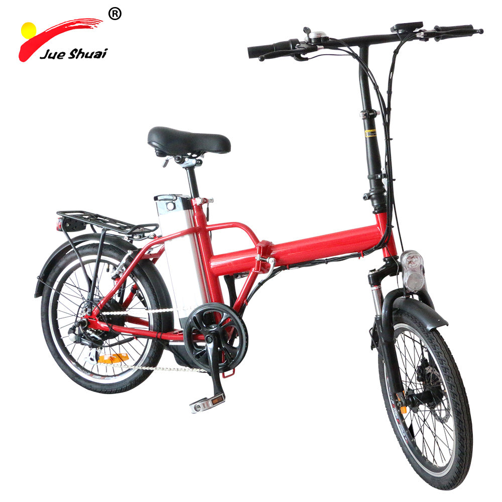 "Free shipping 20"" 36V 10ah lithium battery Alloy folding electric bicycle 250W brushless motor portable adult MTB electric bike"