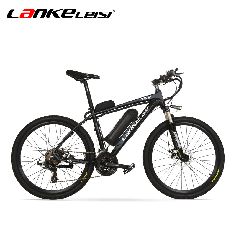 LANKELEISI T8E  Electric Bike 36V 250W Mountain Bike With Aluminum Alloy Frame Oil Spring Fork