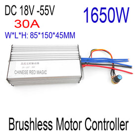 Fast Shipping 1650W Brushless motor controller 30A  DC 18V 24V 36V 48V 55V Motor Drive pwm bldc motor controller - Trivoshop
