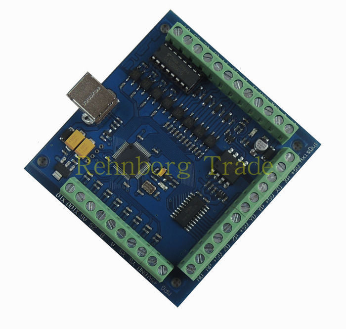 Free shipping 100KHz CNC mach3 USB 4 Axis Stepper Motor Controller Board USBCNC Smooth Stepper Motion Controller card 24V