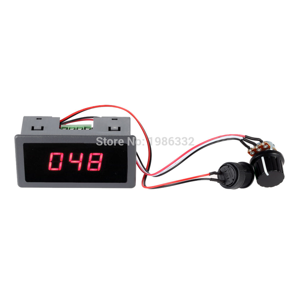 WS16  DC 6-30V 12V 24V Max 8A 240W Motor PWM Speed Controller With Digital Display Adjustable 0%-100% Stepless Control Switch - Trivoshop