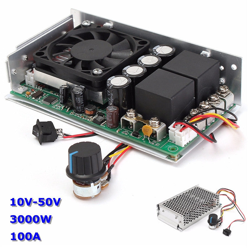 Newest 10-50V DC 100A 3000W Programable Reversible DC Motor Speed Controller PWM Control Reversible Electric Motor - Trivoshop