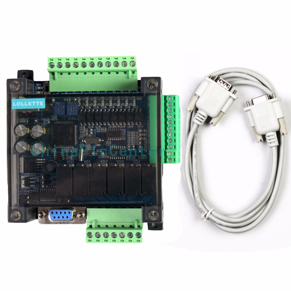 LE3U FX3U 14MR 6AD 2DA 8 input 6 relay output 6 analog input 2 analog (0-10V) output plc controller RS485 RTC (real time clock)