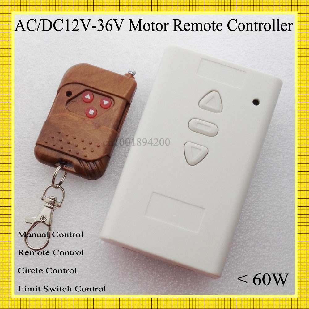 Remote & Manual Button DC Motor Forward Reverse Controller - Trivoshop
