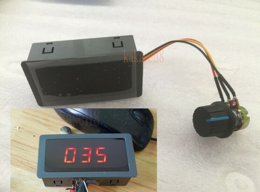 PWM SPEED CONTROLLER WITH DIGITAL DISPLAY