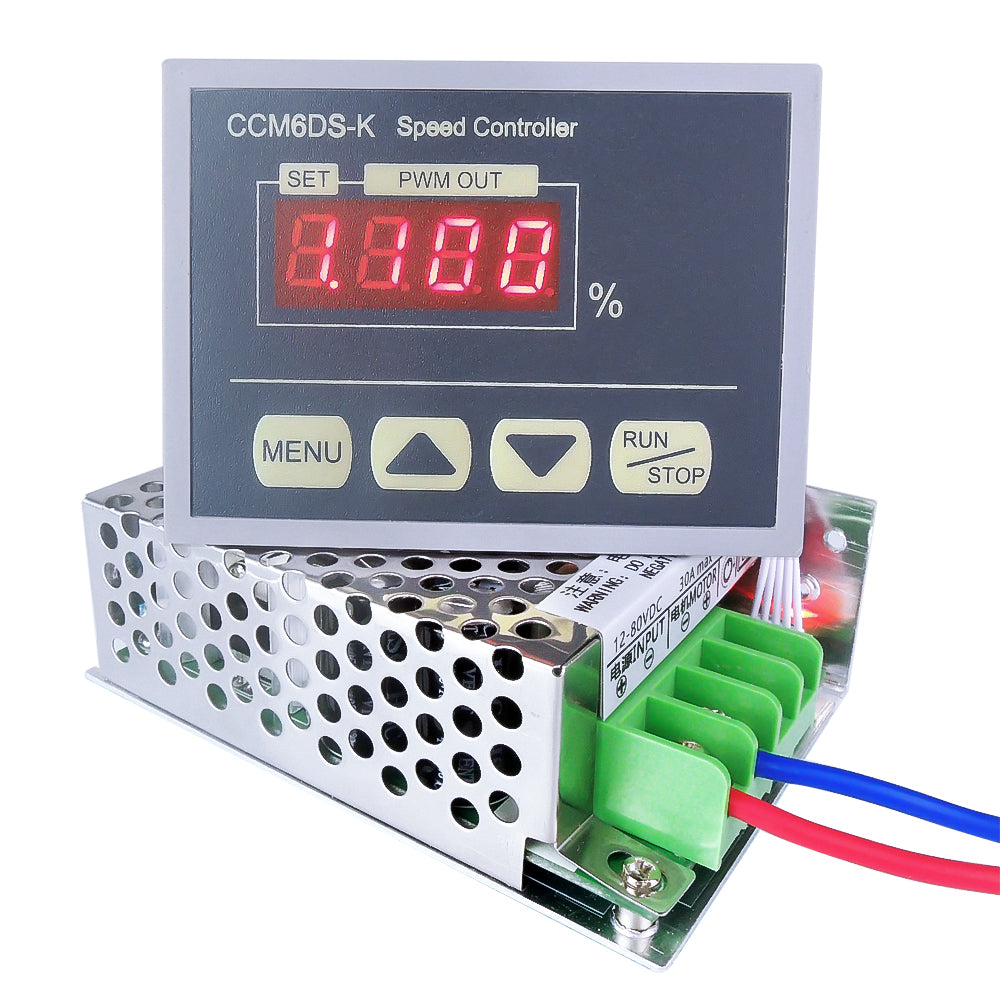 New arrival Wholesale High Power 12V-80V DC 30A LED Digital Display PWM HHO RC DC Motor Speed Controller