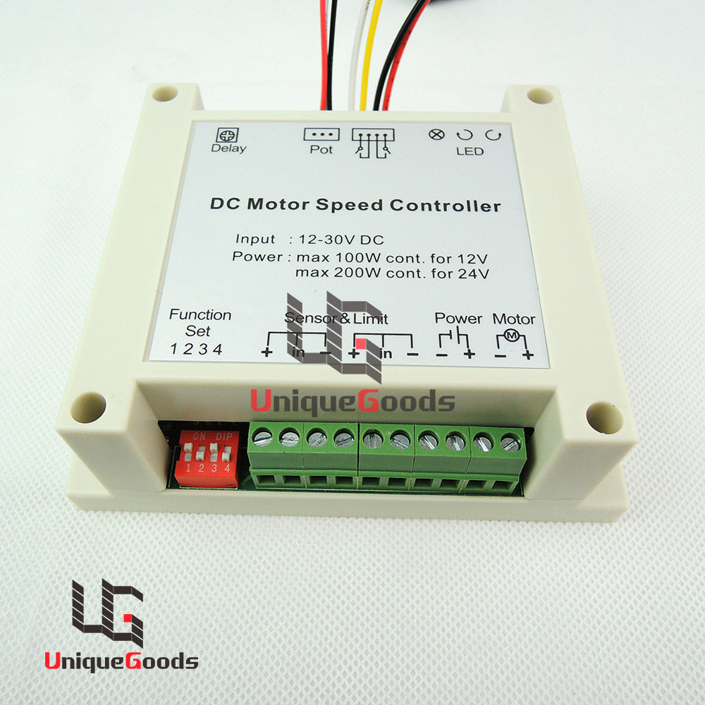 12V 24V 30V  Multifunctional DC Motor Controller Switch Automatic Reversal DC motor Control for SCM PLC and other upper control - Trivoshop.com