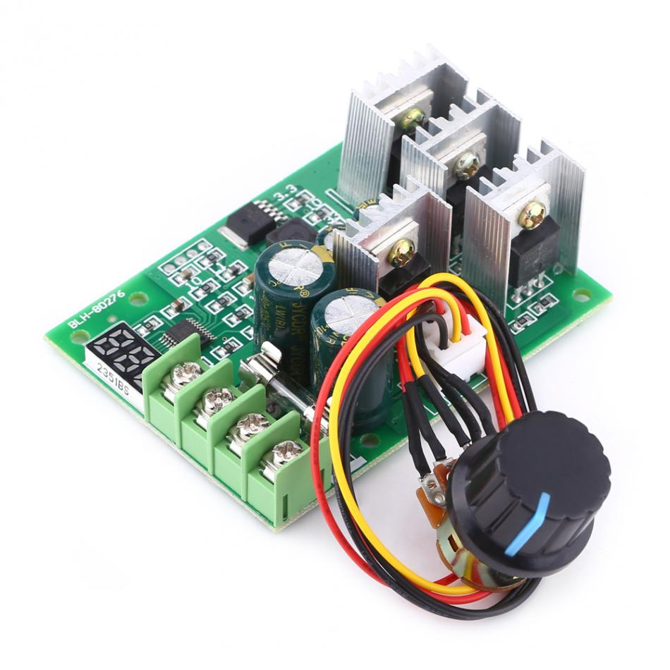 New DC6-60V 30A Digital Display 0~100% Adjustable Drive Module PWM DC Motor Speed Controller