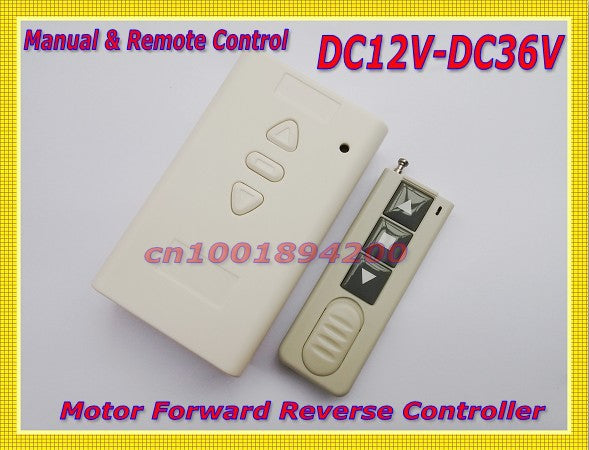 Motor Controller DC12V-DC36V Motor Wireless Remote Control Switch System UP*Down*Stop Motor Forwards Reverse controller Limit