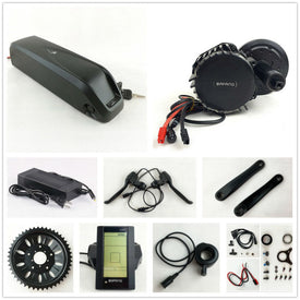 US EU No Tax Bafang BBS03 48V 1000W Electric Bike BBSHD 8Fun mid drive Motor kit with 52V 14Ah Sanyo cell Shark eBike Battery