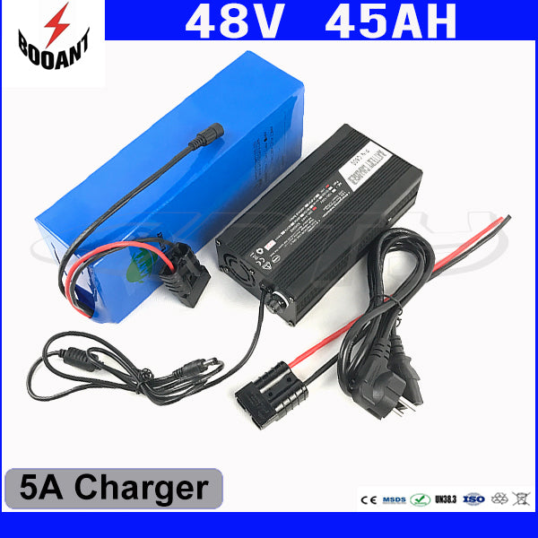 Lithium Scooter Battery 48V 45AH For Bafang Motor 1800W With 5A Charger eBike Battery 48V Built-in 50A BMS Fast Shipping - Trivoshop