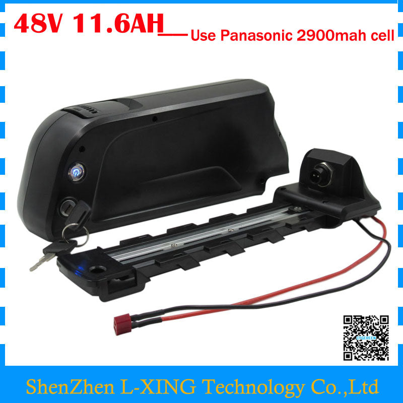 Free customs fee 48V 11.6AH EBike battery 48V lithium battery use NCR18650PF 2900mah cell with 20A BMS with 54.6V 2A Charger