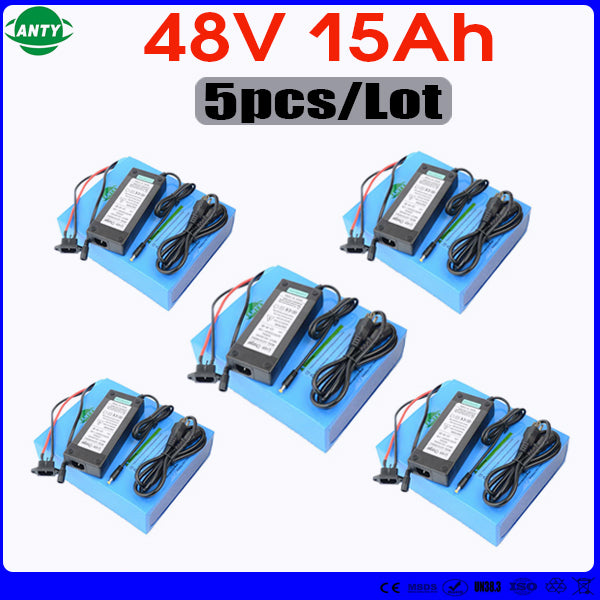 Wholesale 5pcs/Lot Battery 48v 15ah 1440w Lithium eBike Battery Built in 30A BMS with 5pcs Charger Electric Bicycle Battery 48v - Trivoshop