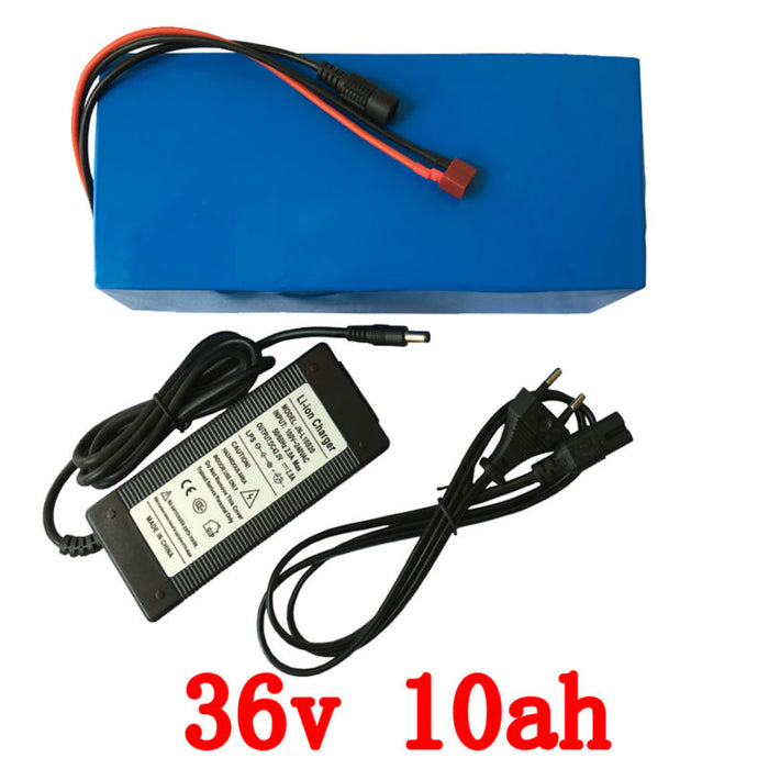 Wholesale 2pcs/36V lithium battery 10AH 500w electric Bicycle Scooter Battery 36v with 42v 2A Charger15A BMS eBike battery 36v F