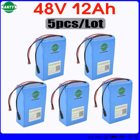 Wholesale 5pcs/Lot eBike Battery 48v 12ah with 5pcs 54.6v 2A Charger Built in 15A BMS Scooter Lithium Battery 48v Fast Shipping - Trivoshop