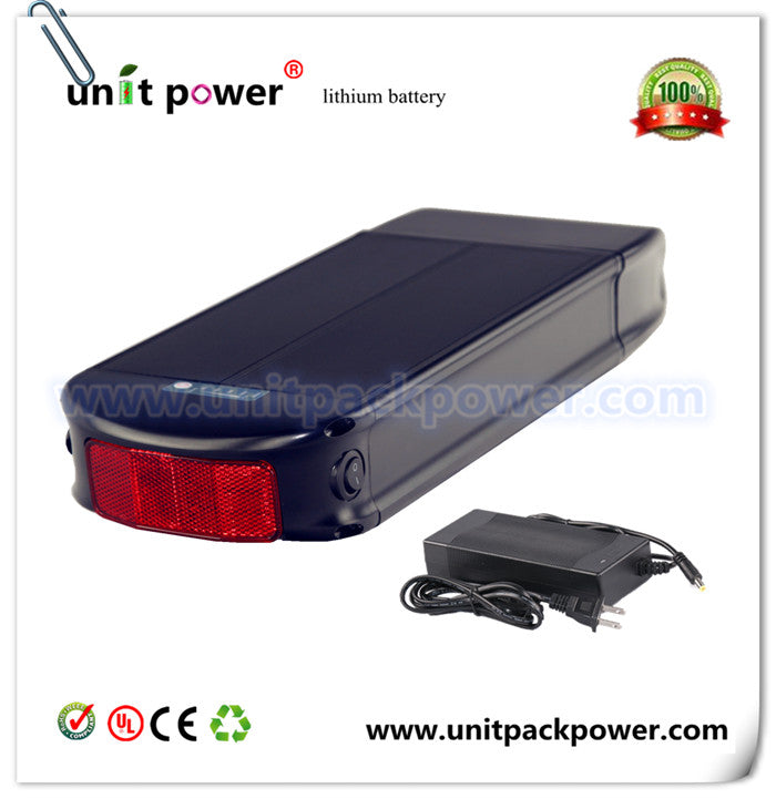 Hot selling good quality rear rack plat ebike battery 48v 10ah lithium battery