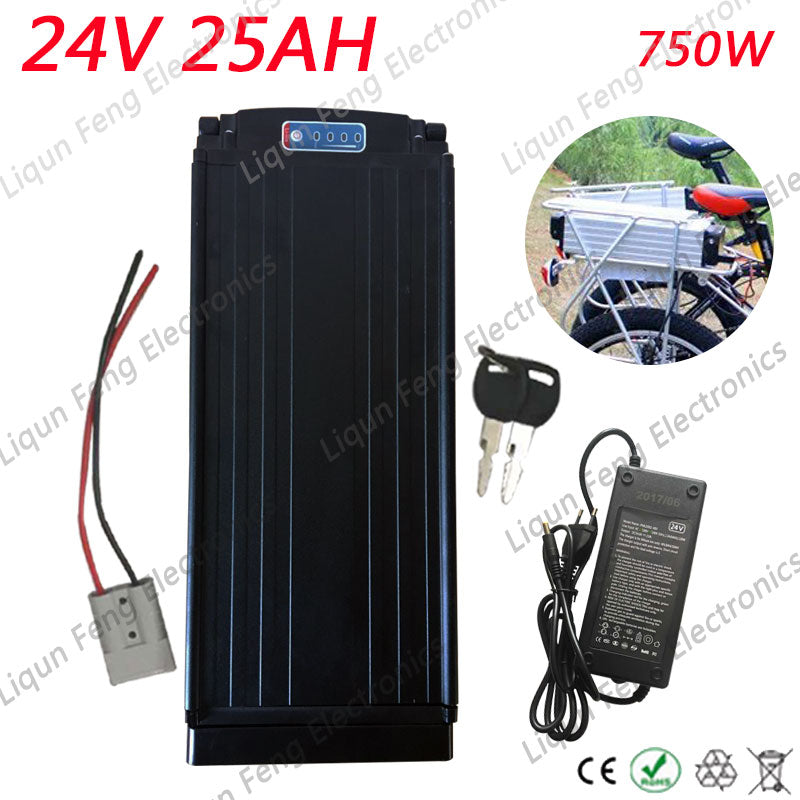 Fast Shipping 24V 25AH High Capacity EBike Battery 24V 350W 500W Lithium ion Battery for 18650 Cell Built in 15A BMS +2A Charger - Trivoshop