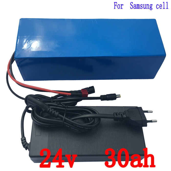 Motor scooter Battery 24v 30ah 500w ebike Battery 24v With 29.4v 2a Charger,bms Lithium Electric Bike Battery 24v Free Shipping