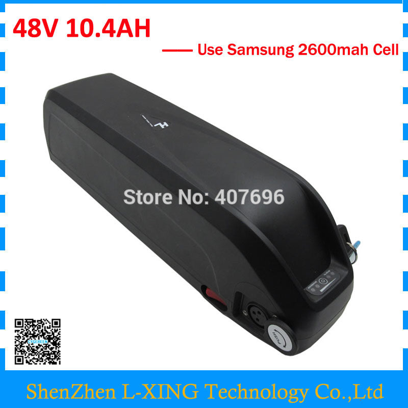 Hailong battery 48V 10AH 500W lithium battery 48V 10.4AH ebike battery with USB Port Use Samsung 2600mah cell US EU Free Tax