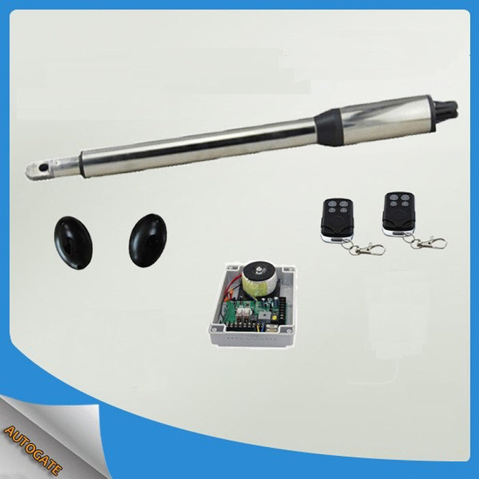 Single piece automatic swing gate opener motors for 300kg gate 2 remote controls - Trivoshop