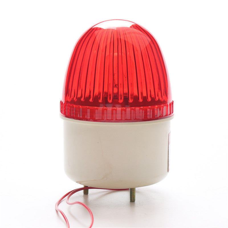 waterproof gate opener motor alarm flashing lamp light with sound siren for swing sliding garage factory gate door red color