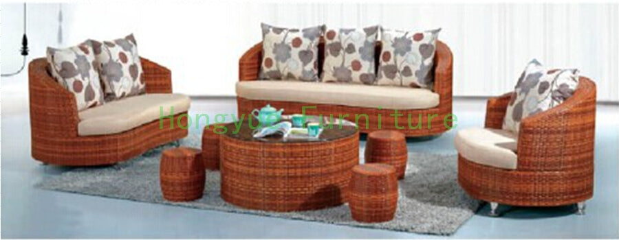 Living room furniture rattan sofa set Wicker sofa furniture
